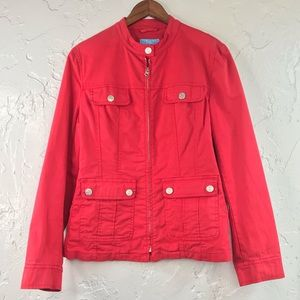 Escada Sport Denim Jacket Red